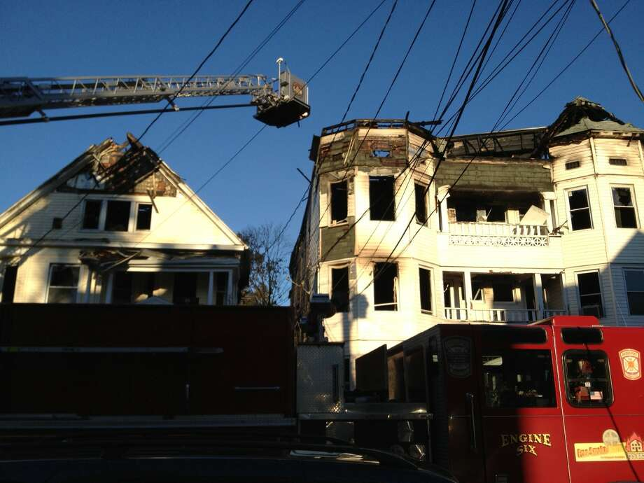 The scene following a massive fire on Putnam Street Tuesday, Sept. 17, 2013. Photo: Connecticut Post