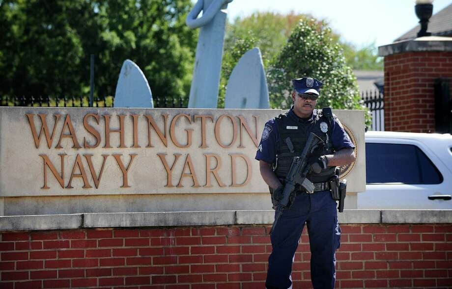 IT contractor and former Navy reservist Aaron Alexis kills twelve people inside the Navy Yard in Washington, DC., before being killed by police. Photo: McClatchy-Tribune News Service / Abaca Press