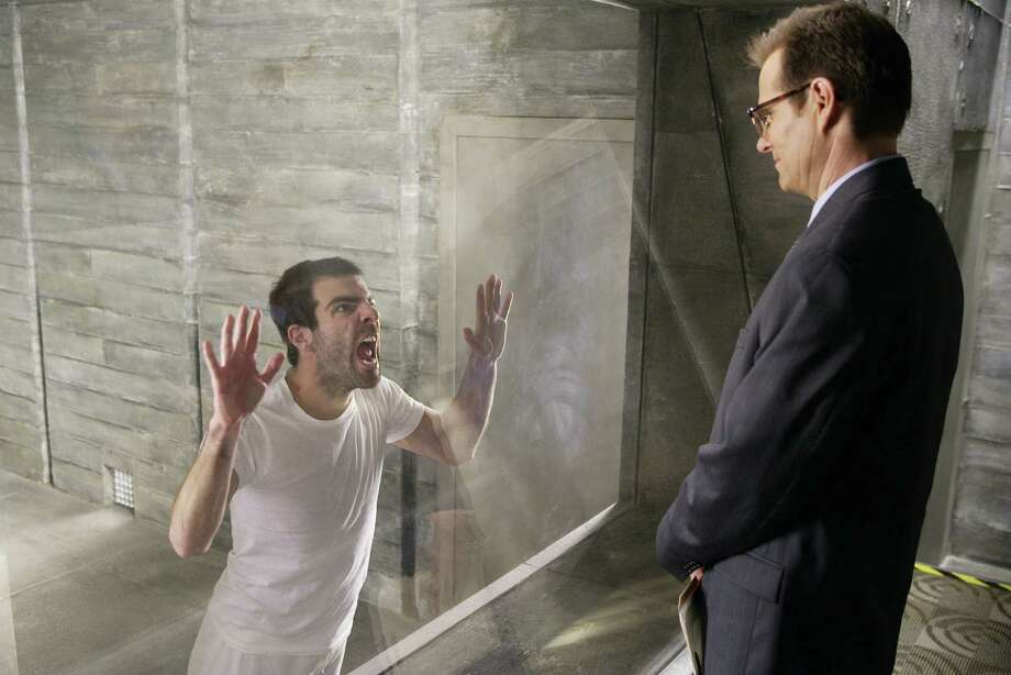 Anyone remember Zachary Quinto as Sylar in Heroes? He's pictured in a 2006 episode with Jack Coleman, right, as Mr. Bennet.  Photo: Paul Drinkwater, Getty Images / © NBC Universal, Inc.