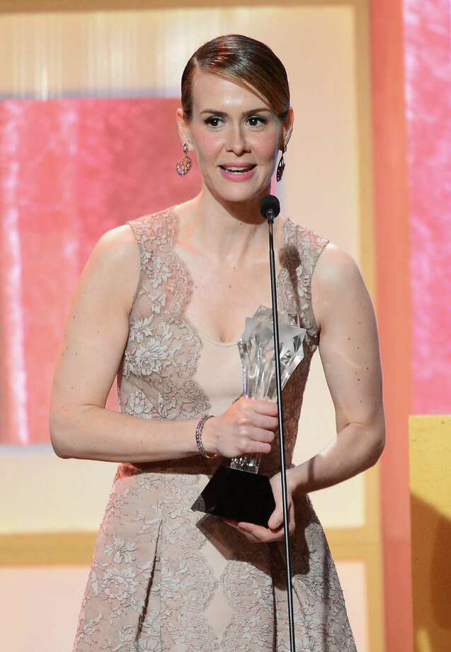 Sarah Paulson, with an acting award for American Horror Story in June of 2013.  Photo: Mark Davis, Getty Images / 2013 Getty Images