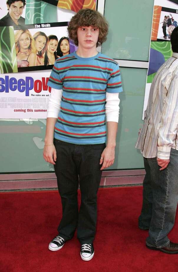 Evan Peters in 2004, promoting teen movie Sleepover.  Photo: SGranitz, Getty Images / WireImage