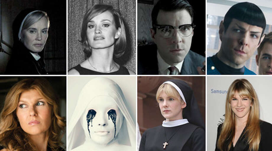 American Horror Story: Asylum is the front-runner for this Sunday's Primetime Emmy Awards, with 17 nominations. Here's a look at the stars before they were on the popular FX creepfest, when Jessica Lange was in half-naked in King Kong, Zachary Quinto had pointy ears, and James Cromwell was a tender pig farmer.  Photo: Getty Images