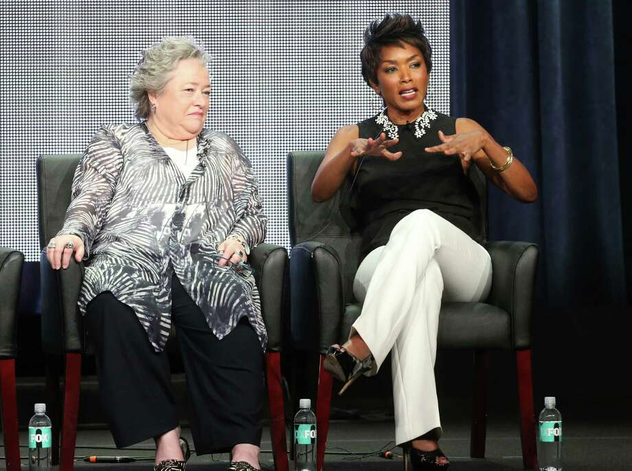 Angela Bassett, right, and Kathy Bates, pictured in 2013, are among new cast members to star in Season 3 of American Horror Story: Coven. Think witches.  Photo: Frederick M. Brown, Getty Images / 2013 Getty Images