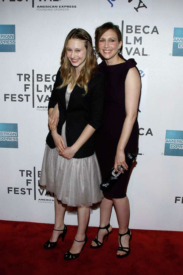 Taissa Farmiga, left, is the youngest sister of actress Vera Farmiga, right. They're 21 years apart.  Photo: Getty Images