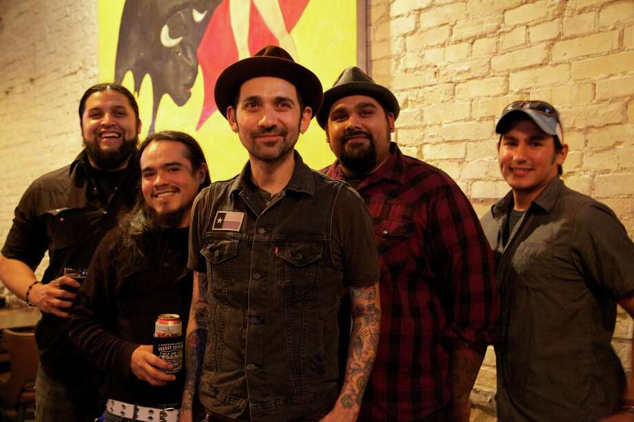 Daniel Magallanez (from left), and Andrew Salazar, Robert Vito, James Magallanez and Justin Cortez are members of the band Blackbird Sing.