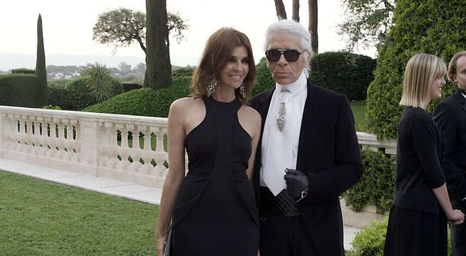 "Carine Roitfeld, the subject of the documentary ""Mademoiselle C,"" with Karl Lagerfeld. Photo: Cohen Media Group"