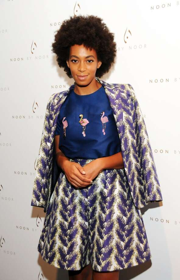 Singer Solange Knowles attends the Noon By Noor show during Spring 2014 Mercedes-Benz Fashion Week at The Studio at Lincoln Center on September 6, 2013 in New York City.  (Photo by Desiree Navarro/WireImage) Photo: Desiree Navarro, WireImage