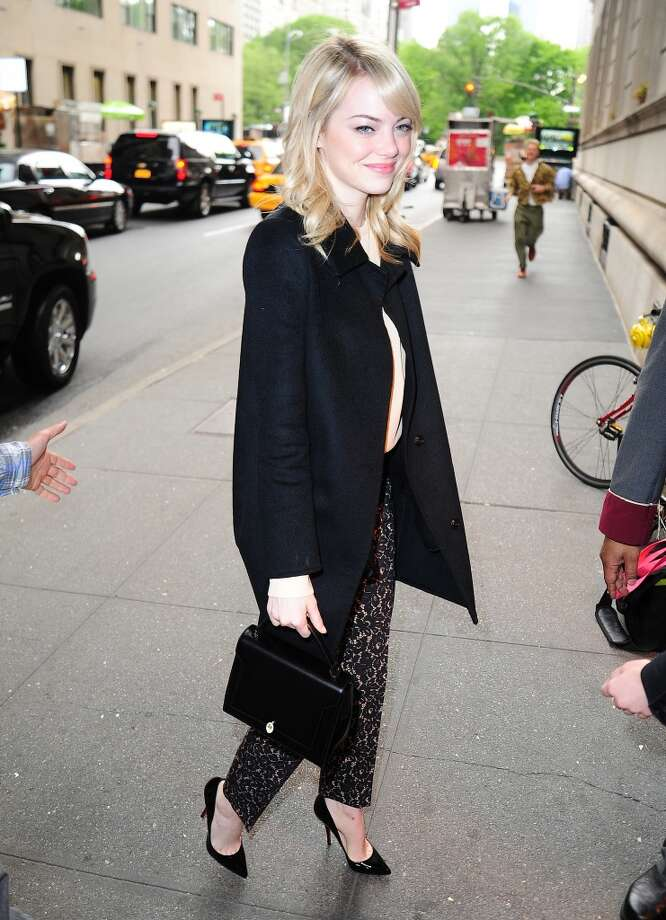 Emma Stone sighting on May 15, 2013 in New York City. (Photo by Alo Ceballos/FilmMagic) Photo: Alo Ceballos, FilmMagic