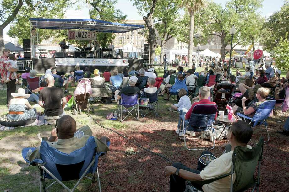 Travis Park will be the setting this weekend for Jazz'SAlive, a free jazz festival. Photo: Express-News File Photo