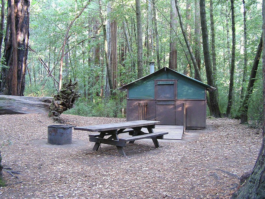 Big Basin Tent Cabins rent for $79 per night; camp gear also available for rent Photo: Big Basin Tent Cabins