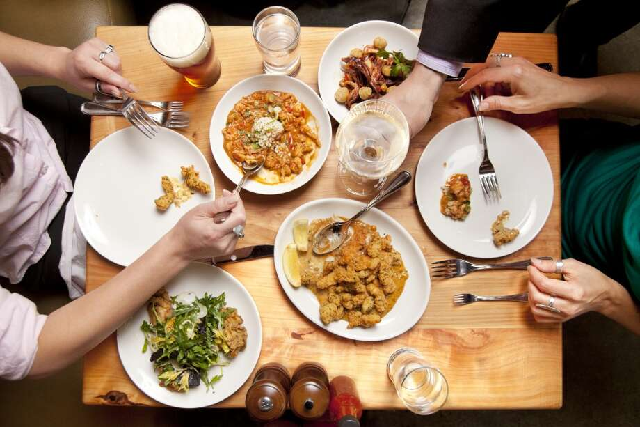 If you don't want to ask for smaller portions, consider sharing a meal. Photo: Lara Hata, Getty Images