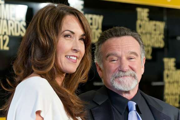 NEW YORK, NY - APRIL 28:  Susan Schneider (L) and comedian Robin Williams attend The Comedy Awards 2012 at Hammerstein Ballroom on April 28, 2012 in New York City.
