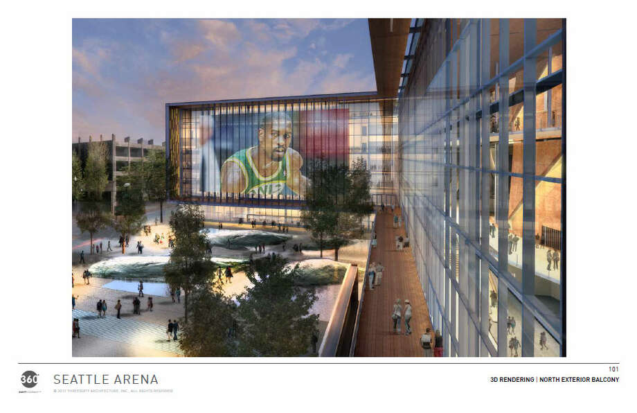 The designers have tweaked, at the public's request, the glass facade of the arena's outer building. More on that later. Photo: Via Seattle DPD, 360 Architects