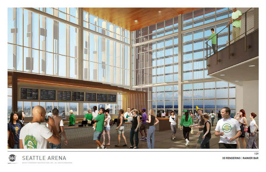 Don't all these fake people know they're eating fake food inside a fake arena? Photo: Via Seattle DPD, 360 Architects