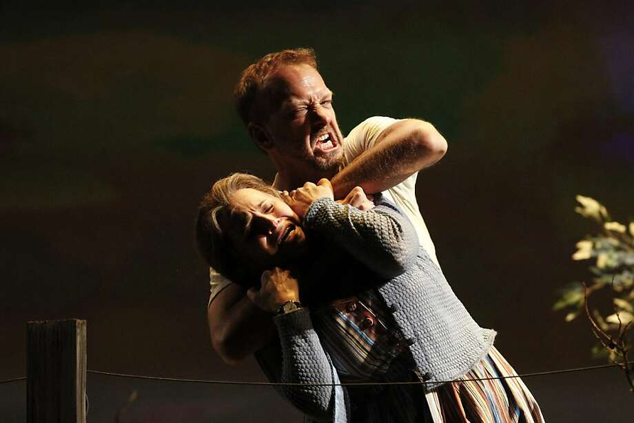 """Patricia Racette and Wayne Tigges: Too quiet in S.F. Opera's """"Claiborne""""? Photo: Raphael Kluzniok, The Chronicle"""