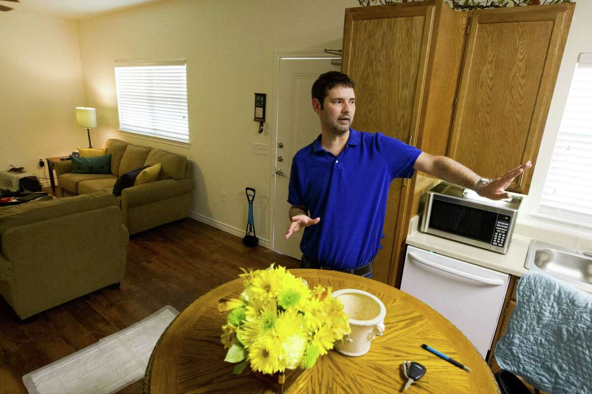 Seth Fitzgerald enjoys his apartment in Kingwood's Village at Hickory Glen, designed for those with developmental disabilities.