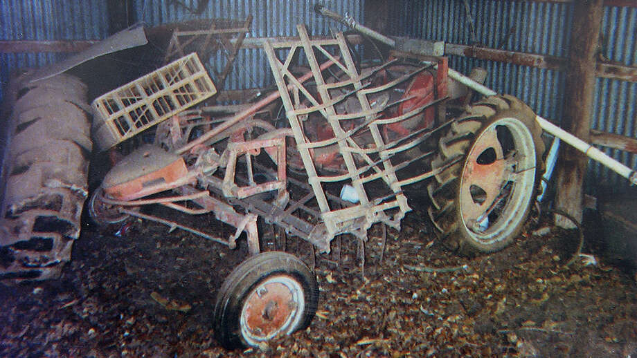 Before pictures of the 1953 Allis Chalmers Model G restored by Corey Verstraeten, 13, and Brett Verstraeten, 17, a tractor originally owned by their great grandfather, in San Antonio on Wednesday, September 18, 2013. Photo: Courtesy Photo / San Antonio Express-News