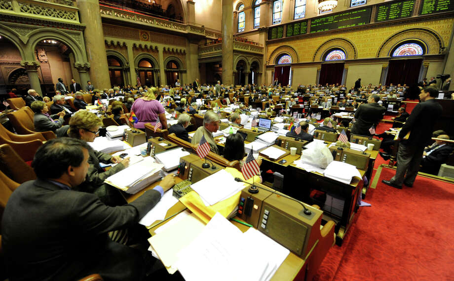 The NYS Assembly is in full swing during the budget negotiations in the State Capitol and in Albany, New York June 28, 2010.      (Skip Dickstein/Times Union) Photo: Skip Dickstein / 2008