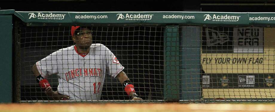 PHOTOS: Astros players' contract situation during offseason Cincinnati Reds manager Dusty Baker (12) watches the game from the dugout during the fourth inning of an MLB game at Minute Maid Park, Wednesday, Sept. 18, 2013, in Houston. >>>Browse through the photos for a look at the contract situation for each Houston Astros player during this offseason ... Photo: Karen Warren, Houston Chronicle / © 2013 Houston Chronicle