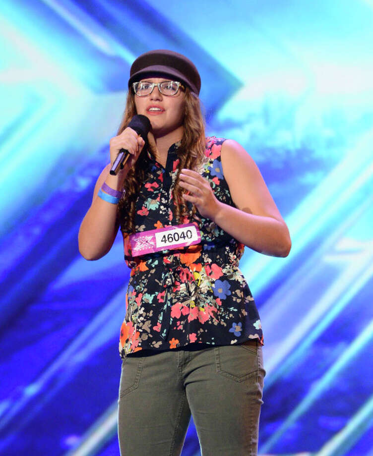 THE X FACTOR: Contestant Danielle Geimer pefrorms in front of the Judges on THE X FACTOR airing Thursday, Sep. 12 (8:00-10:00 PM ET/PT) on FOX. CR: Ray Mickshaw/ FOX. © Copyright 2013 / FOX.