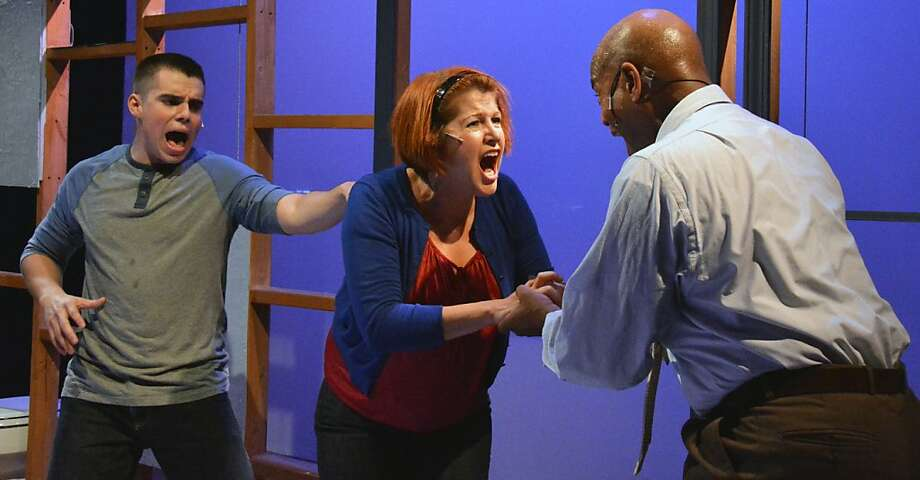 "Gabe (Danny Gould), Diana (Lisa-Marie Newton) and Dan (LaMont Ridgell) have a family crisis in Custom Made's produciton of ""Next to Normal"" Photo: Jay Yamada"