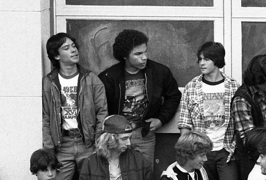 There were more rock T-shirts at Lincoln High than the other schools. I appreciate the taste of this group, which is representing the 49ers Super Bowl XVI victory, Rush Moving Pictures and Santana. Photo: Gary Fong, The Chronicle