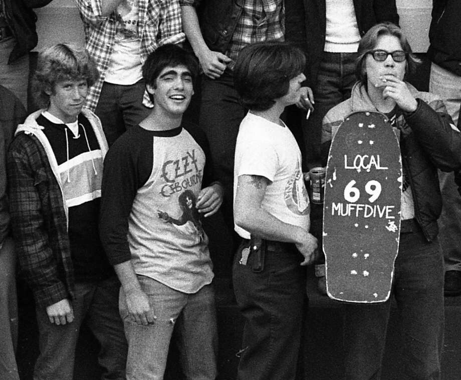 You know it's 1982 in an SF public school, when you see a guy use an entire bottle of Wite Out to write ''LOCAL 69 MUFFDIVE'' on his skateboard. Hoping he's an attorney now, and his son is reading this. Photo: Gary Fong, The Chronicle