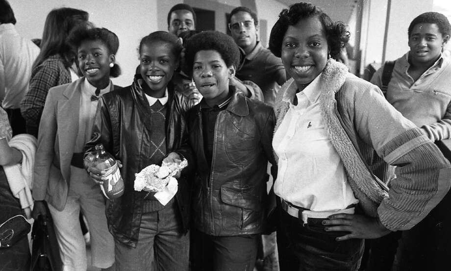 A closer look at this group. From this angle, the ''Off the Wall'' girl could be a relative of MC Hammer. If you know her, please have her contact me at phartlaub@sfchronicle.com. I'd like an interview. Photo: Gary Fong, The Chronicle