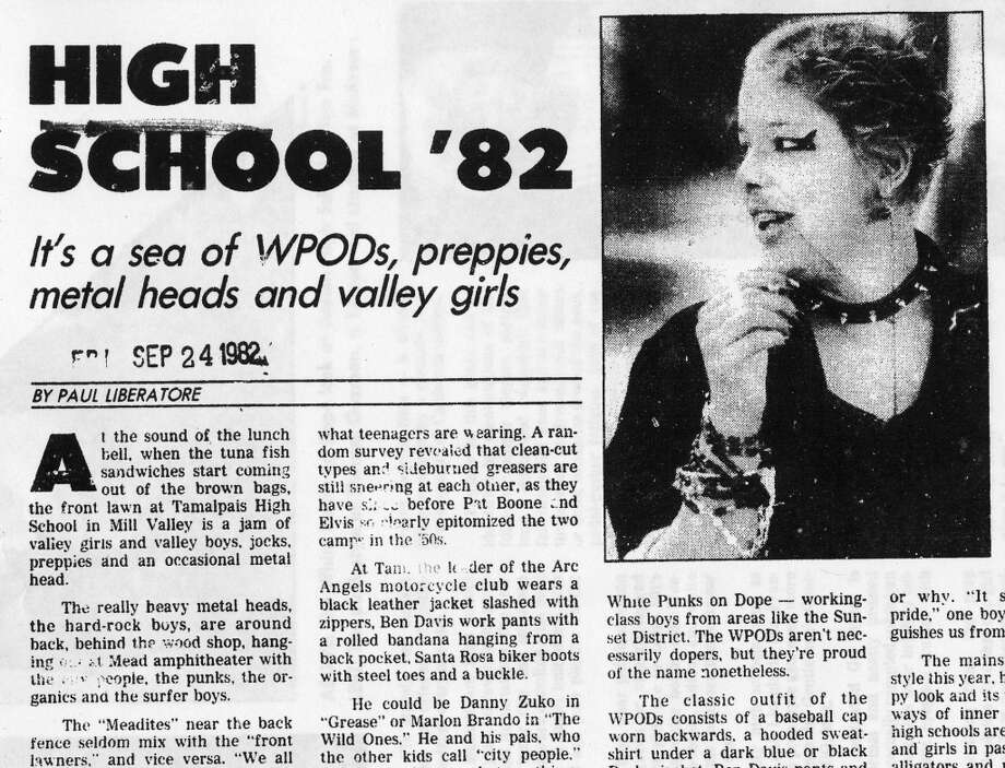 The Sept. 24, 1982 article in the San Francisco Chronicle, about fashion fads in high school. We'll track some of these teens down and see how they feel about their fashions thirty years later. Photo: Gary Fong, The Chronicle
