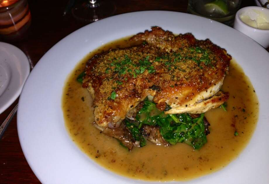 Pan-rosted chicken with rosemary lemon jus ($25)