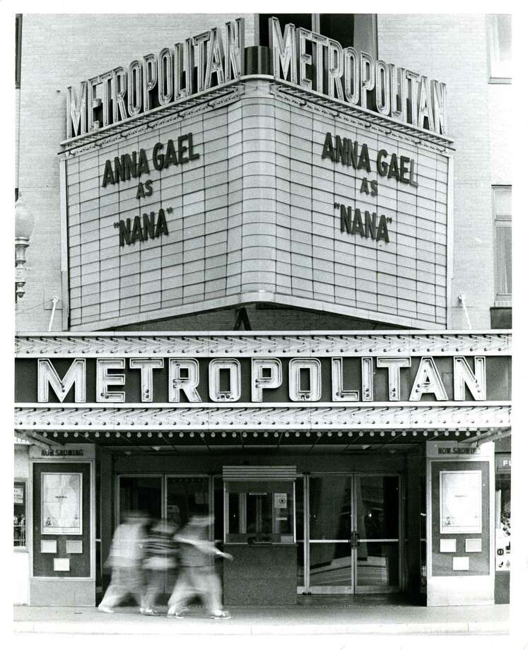 "The marquee of the Metropolitan moviehouse in 1971 shows Anna Gael  playing ""Nana"" at the Metropolitan Theater in downtown Houston. Photo: Darrell Davidson, Houston Chronicle / Houston Chronicle"