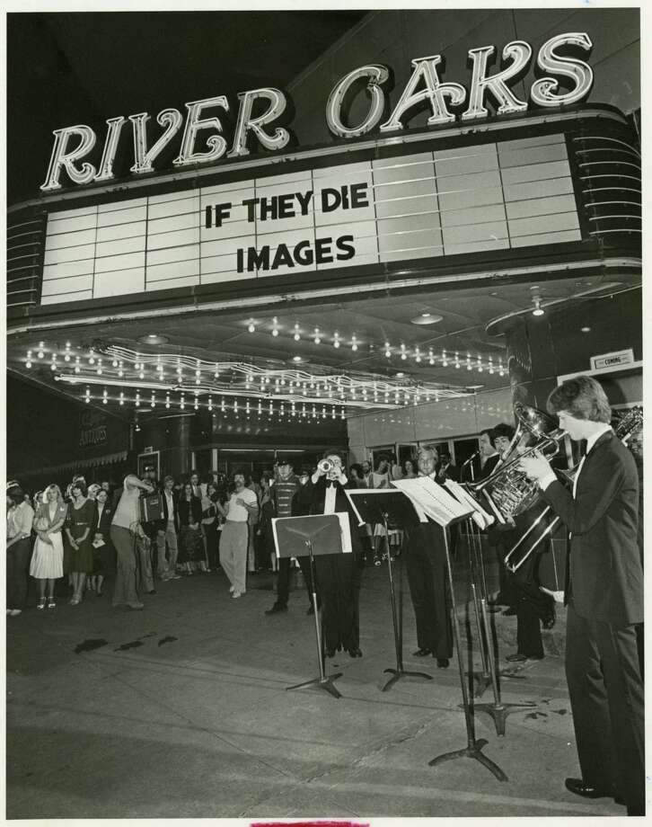 "The Alpine Brass Quintet performed for the premiere of the made-for-TV movie, ""If They Die"", in 1982 at the River Oaks Theatre. Photo: Steve Campbell, Houston Chronicle / Houston Chronicle"