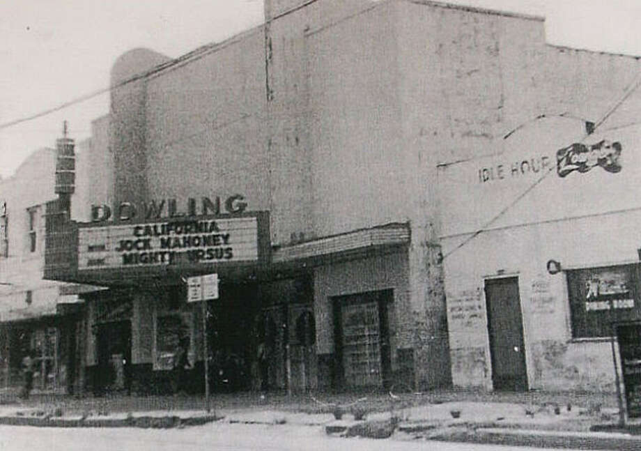 The Dowling Theatre Exterior opened in 1941 and closed in 1955. It was located at 2110 Dowling St.