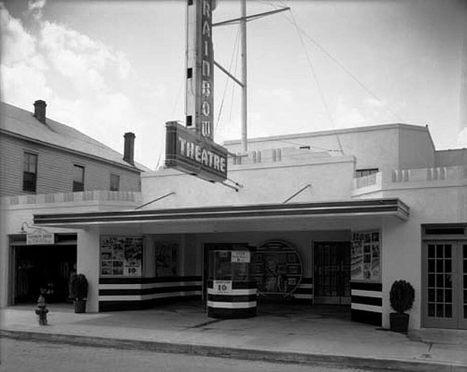 The Rainbow Theatre is pictured in 1937 when was located at 907 W. Dallas St.