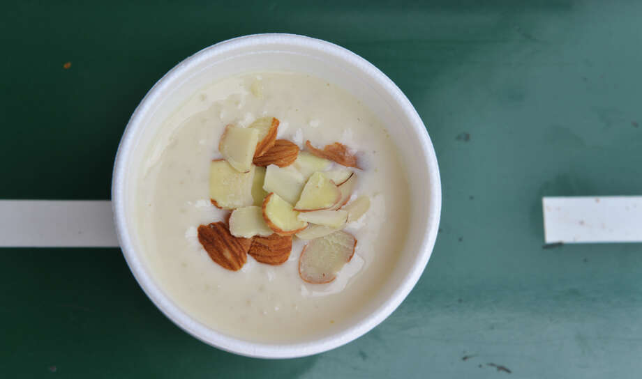 What:Kheer at Rickshaw Stop food truck, 210-902-9308, follow it on Facebook and Twitter to find its various locations, www.rickshawstop-sa.comWhat makes it a treat: Regular customers know they need to get in line early if there's any chance of snagging an order of the Pakistani rice pudding. It has a creamy consistency spiced with cardamom and rose water and topped with nuts. When it's gone, it's gone.Cost: $2 Photo: Robin Jerstad