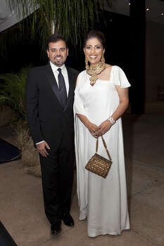 Pershant and Nidhika Mehta at the MFAH Grand Gala Ball. Photo: Jenny Antill / JENNY ANTILL