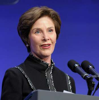 """Former first lady Laura Bush:Bush was involved in a fatality car wreck in high school. She ran a stop sign and slammed into another car. The driver of the other vehicle, who happened to be her classmate and friend Michael Dutton Douglas, was killed. Bush wrote about the accident in her memoir """"Spoken from the Heart."""" Photo: Susan Walsh, STF / AP"""