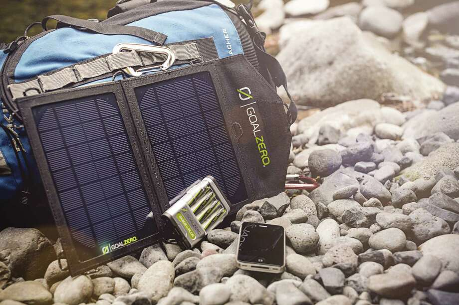 Goal Zero's Guide 10 Plus solar-power kit sells for about $120. / ©Kari Rowe Photography LLC all rights reserved 2012