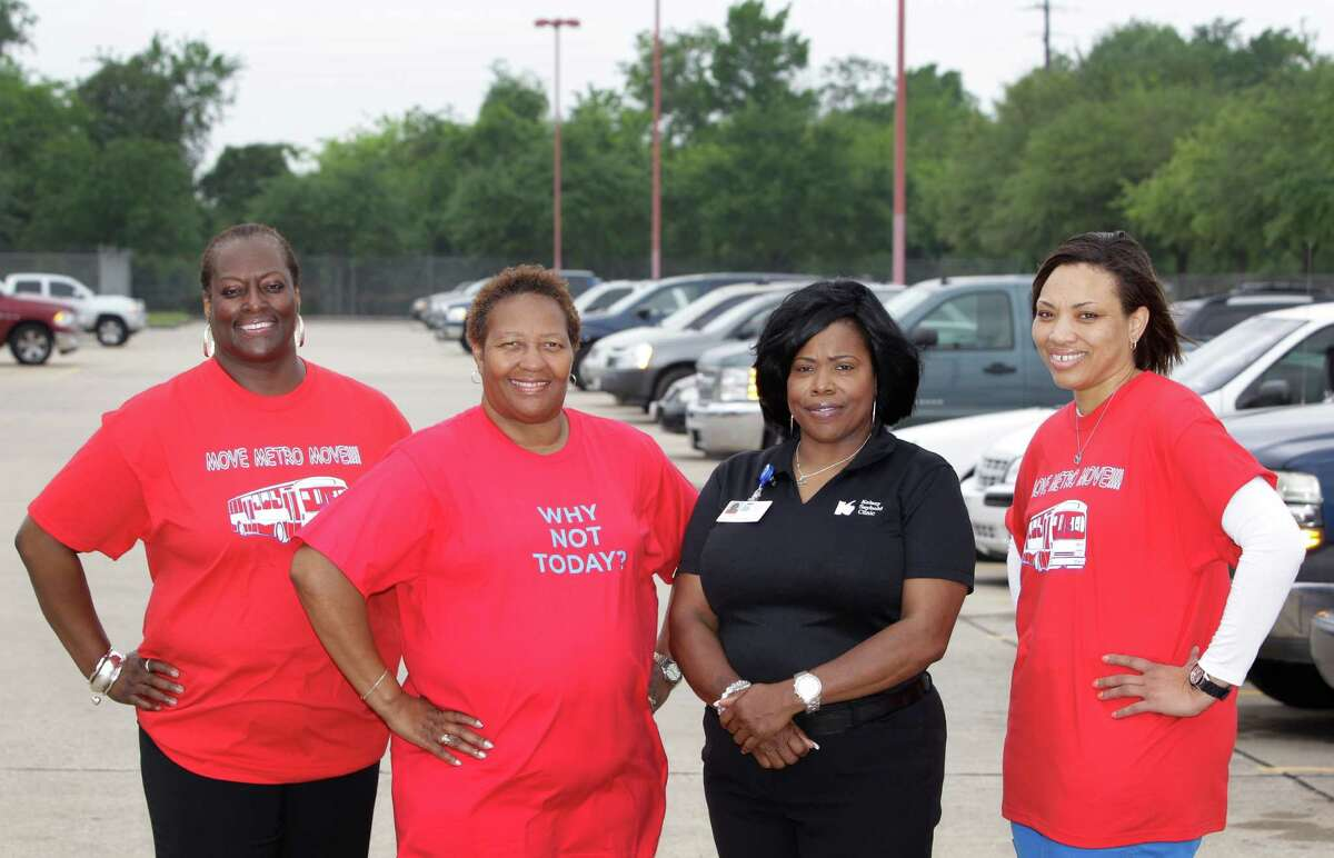 Tanya Allen, left, benefits manager at the union for Metro bus drivers and maintenance workers, launched a wellness program that offers rewards for getting healthy. With her, second from left to right, are Loretta Sancho, a Metro bus operator, Paula Smith, a Kelsey-Seybold wellness supervisor, and Shantay Phoenix, a Kelsey-Seybold wellness LVN.Tanya Allen, left, benefits manager at the union for Metro bus drivers and maintenance workers, launched a wellness program that offers rewards for getting healthy. With her, second from left to right, are Loretta Sancho, a Metro bus operator, Paula Smith, a Kelsey-Seybold wellness supervisor, and Shantay Phoenix, a Kelsey-Seybold wellness LVN.