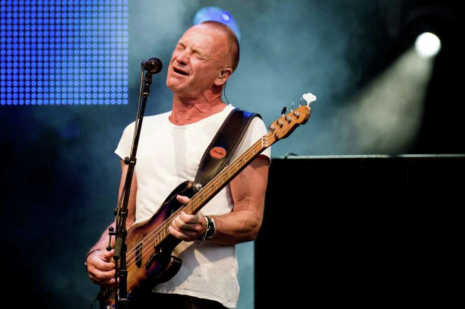 "FILE - This July 19, 2013 file photo shows British singer-songwriter Sting performing at the ""Live at Sunset Festival"" in Zurich, Switzerland. Sting's new musical ""The Last Ship"" will sail onto Broadway after a stop in Chicago. Producers said Thursday, Sept. 19, that the show _ inspired by Sting's memories growing up in a shipbuilding community in northeast England _  will appear on Broadway in the fall of 2014 once it makes its world premiere next summer at Chicago's Bank of America Theatre. (AP Photo/Keystone,Ennio Leanza, File) ORG XMIT: NYET406 Photo: Ennio Leanza / KEYSTONE"