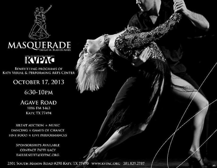 The Masquerade: Tango in Buenos Aires fundraiser will take place Thursday, Oct. 17. Photo: The Katy Visual And Performing Arts Center