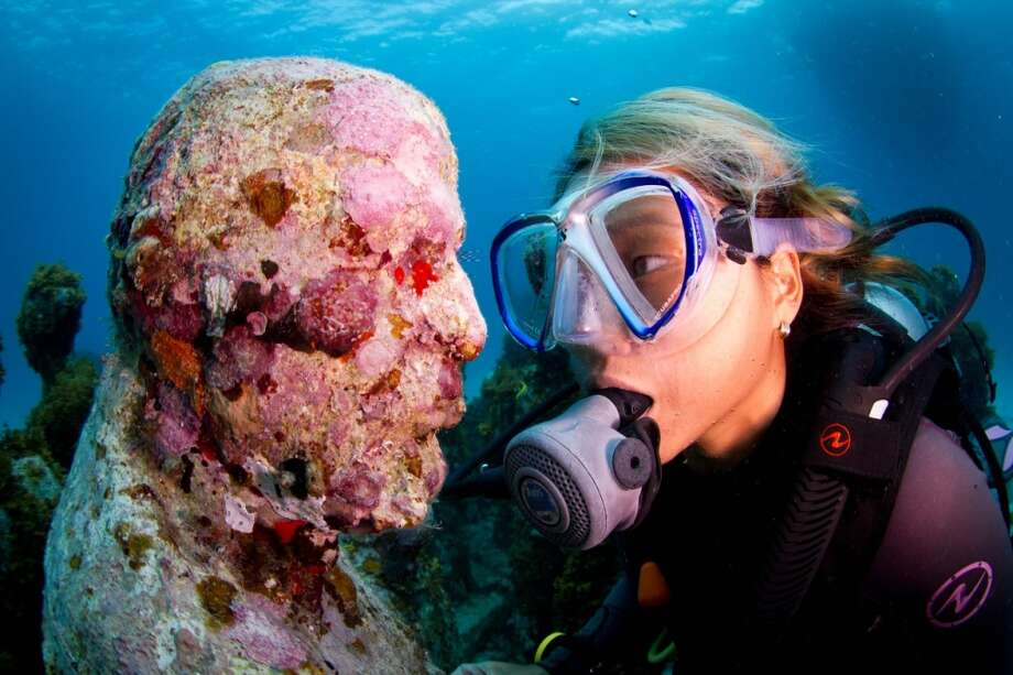 The Cancun Underwater Museum  now has 500 pieces of art that can serve as a home for coral and reef life. Photo: Jason De Caires Taylor