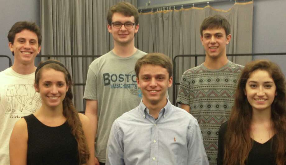 Fairfield Warde and Fairfield Ludlowe High School students have been selected to play on a national concert stage Oct. 30 by the National Association for Music Educators. They are: front row, from left: Eliza Wiant, Zachary Roberge and Evelynne Fulda; back row, from left: Connor Levinson, Liam Russell and Joseph Sugrue. Photo: Contributed Photo / Fairfield Citizen