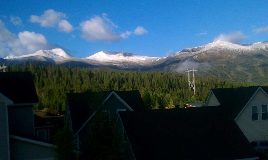 The first dusting of snow for the 2013-2014 season can be seen at Breckenridge, in Colorado, on Sept. 19, 2013. (Courtesy Breckenridge)