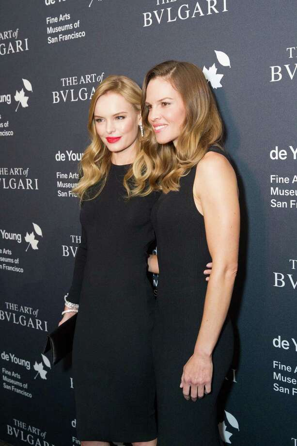 """Actresses Kate Bosworth and Hilary Swank were guests at the opening party for the """"The Art of Bulgari: La Dolce Vita & Beyond, 1950-1990"""" exhibit at the de Young Museum on September 18, 2013. Photo: Drew Altizer Photography / ©Drew Altizer"""