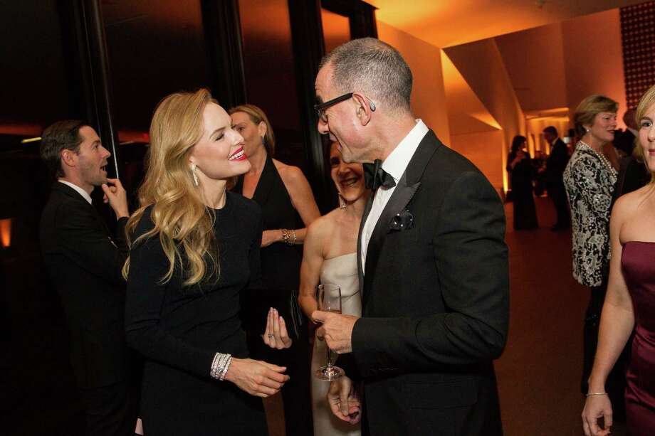 "Actress Kate Bosworth speaks with Colin Bailey during the opening party for the ""The Art of Bulgari: La Dolce Vita & Beyond, 1950-1990"" exhibit at the de Young Museum on September 18, 2013. Photo: Drew Altizer Photography / © Drew Altizer"