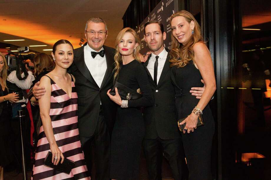 "China Chow, Jean-Christophe Babin, Kate Bosworth, Michael Polish, Jacqui Getty at the opening party for the ""The Art of Bulgari: La Dolce Vita & Beyond, 1950-1990"" exhibit at the de Young Museum on September 18, 2013. Photo: Drew Altizer Photography / © Drew Altizer"