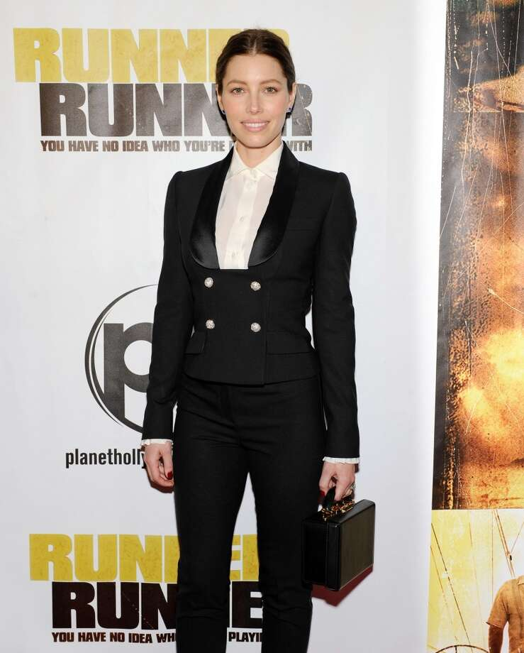 "Actress Jessica Biel arrives at the world premiere of Twentieth Century Fox and New Regency's film ""Runner Runner"" at Planet Hollywood Resort & Casino on September 18, 2013 in Las Vegas, Nevada.  (Photo by David Becker/Getty Images) Photo: David Becker, Getty Images"