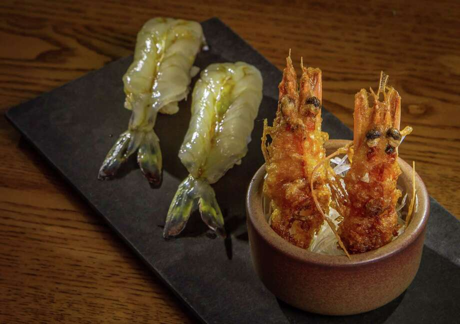 Madagascar blue shrimp with fried fish heads at Akiko's in S.F. Photo: John Storey / Special To The Chronicle / ONLINE_YES