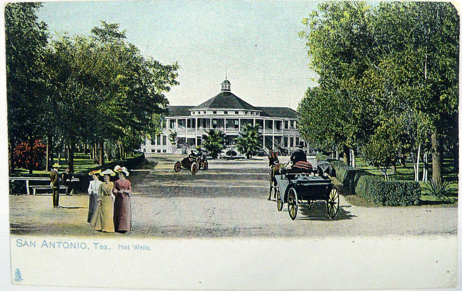 A postcard of the once-famous Hot Wells Hotel and Spa. Photo: From The Express-News Files